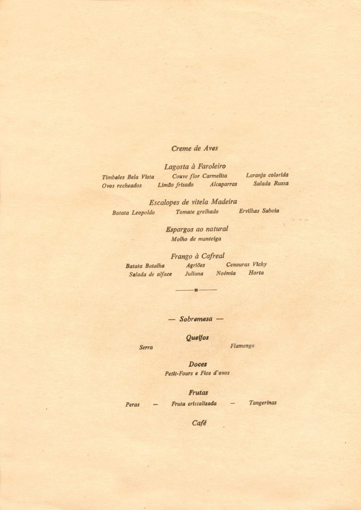 00593 971-12-27 ementa do jantar de despedida dos militares transportados à Guiné