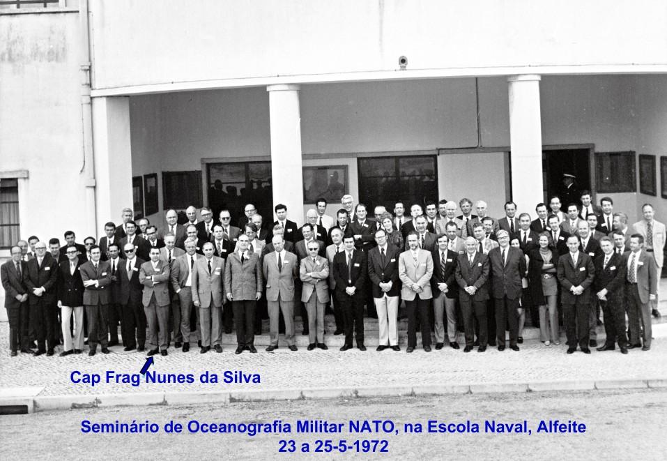 00615 972-05-23 participando no Seminário de Oceanografia Militar NATO na Escola Naval Alfeite -o grupo todo