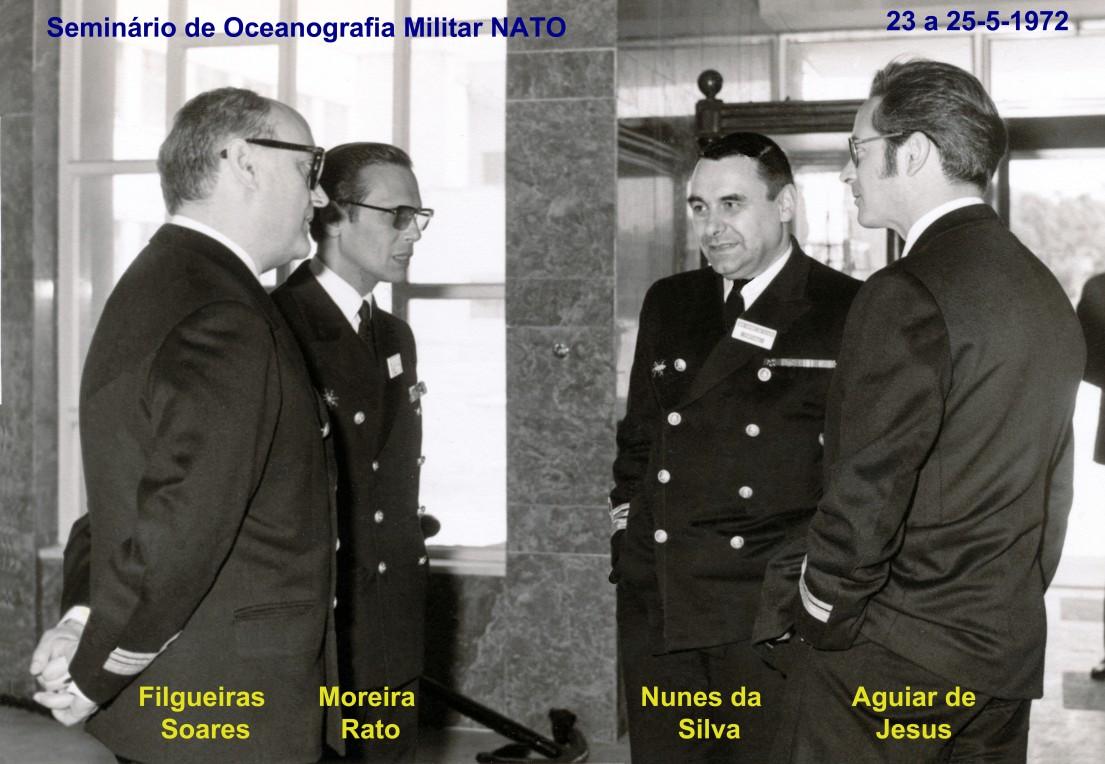 00616 972-05-23 participando no Seminário de Oceanografia Militar NATO na Escola Naval Alfeite -os portugueses