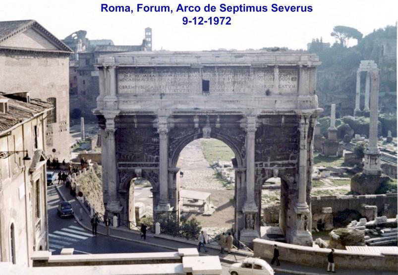 00622 972-12-09 Arco de Septimus Severus no Forum de Roma