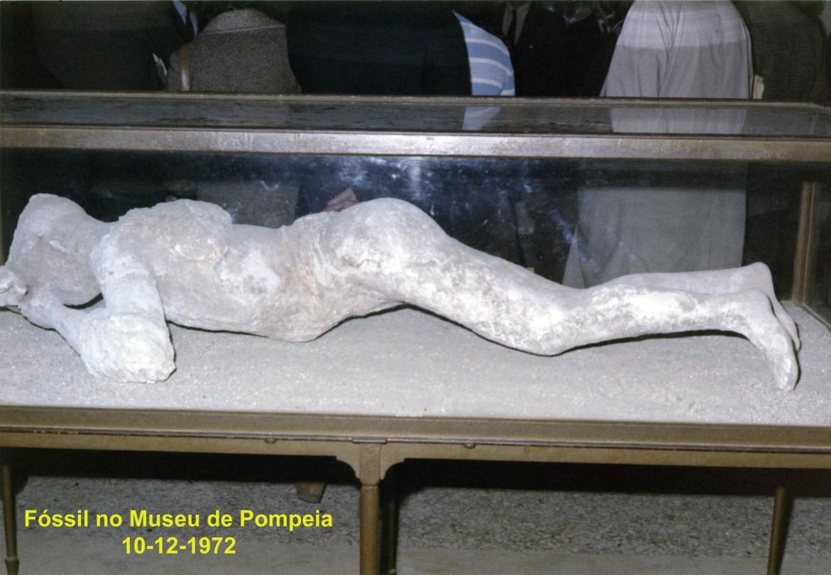00624 972-12-10 Fóssil da erupção do Vesuvio no Museu de Pompeia - passeio de fim de semana proporcionado pela organização do MTWP
