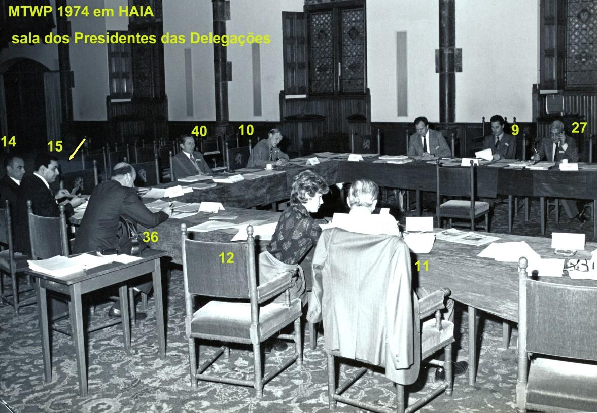 00658 974-11-18 reunião dos Presidentes das Delegações ao MTWP 1974 em Haia