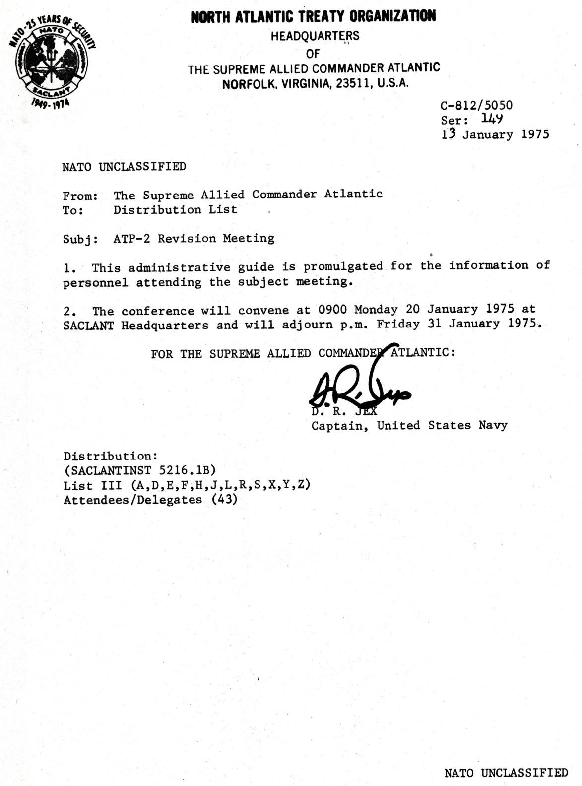 00669 975-01-13 instruções para encontro de revisão do ATP-2 da NATO em Norfolk EUA de 20 a 31-1-75