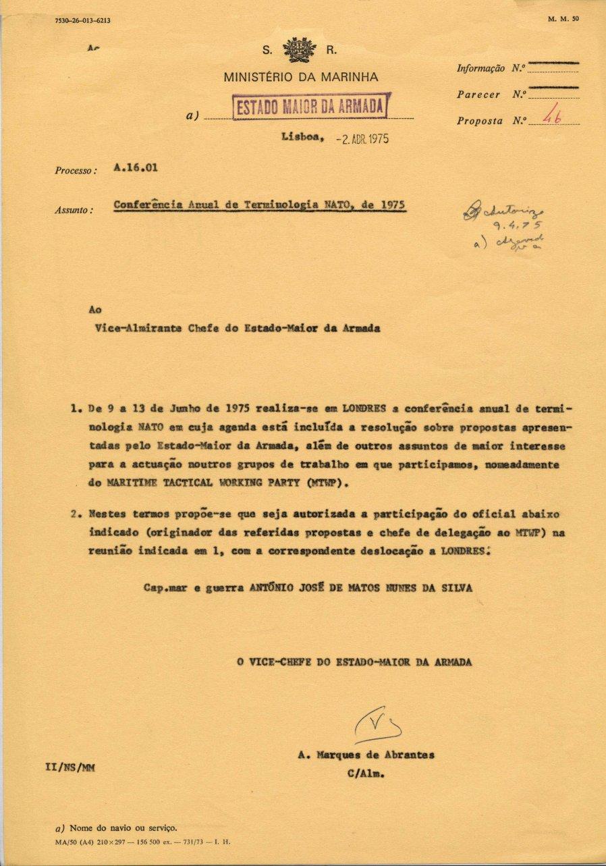00674 975-04-02 autorização para eu participar na Conferência Anual de Terminologia Nato em Londres de 9 a 13-6-1975