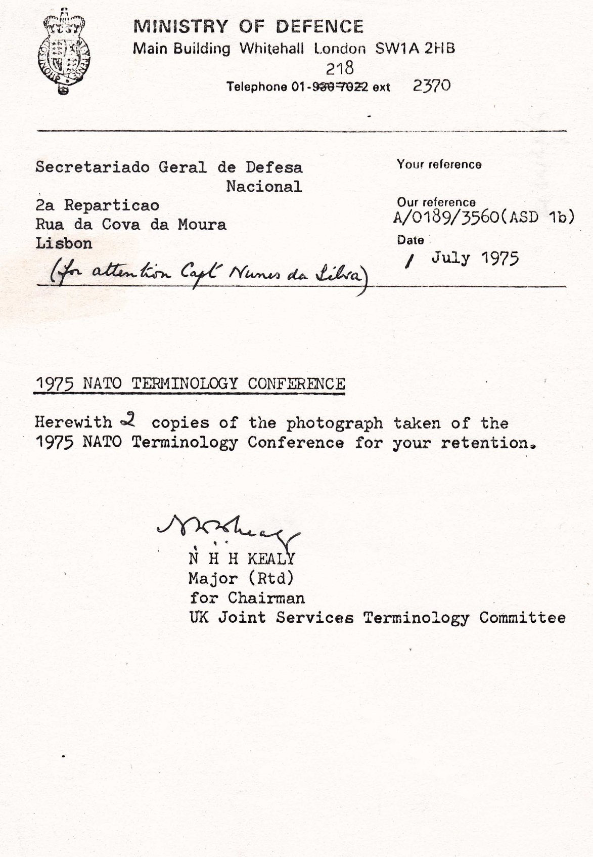 00679 975-07 oferta da foto dos participantes na Conferência de Terminologia NATO em Londres