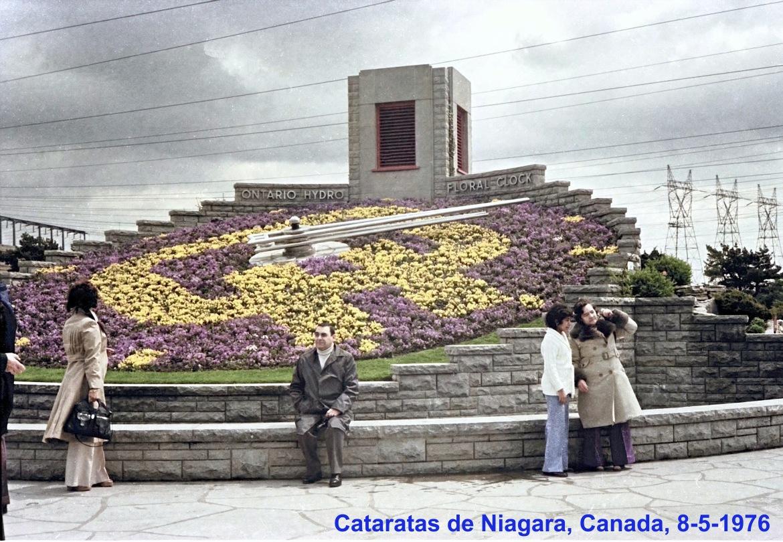 00698 976-05-08 no Relógio Floral das Cataratas de Niagara, Canada