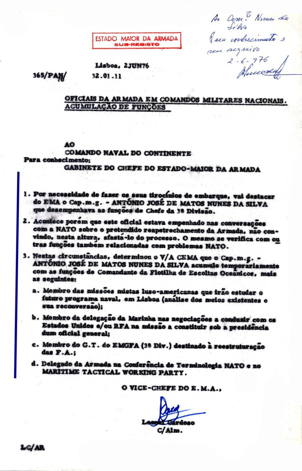 00703 976-06-02 comunicação do EMA ao Comando Naval do Continente das minhas acumulações determinadas pelo_20101113235512358
