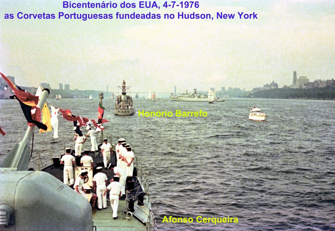 00723 976-07-04 as Corvetas portuguesas fundeadas no Hudson em New York