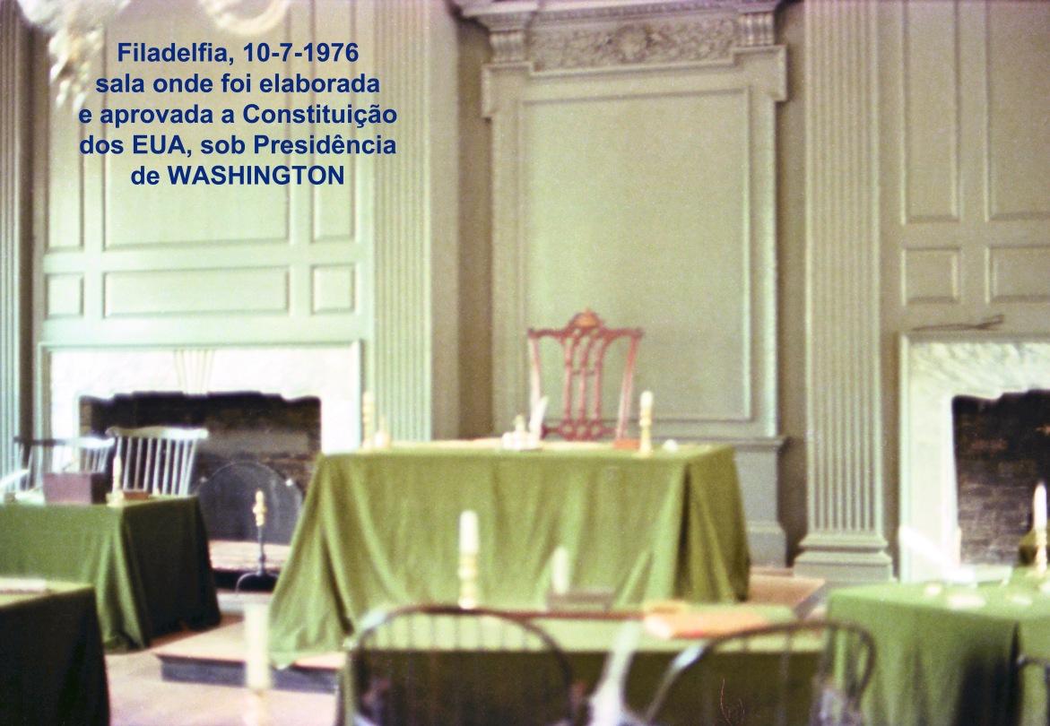00738 976-07-10 Filadelfia -sala onde foi elaborada e aprovada a Constituição dos EUA sob Presidência de Washington