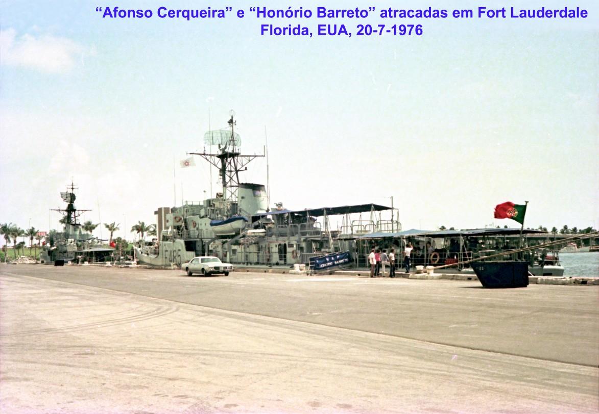 00743 976-07-20 Afonso Cerqueira e Honório Barreto atracadas em Fort Lauderdale