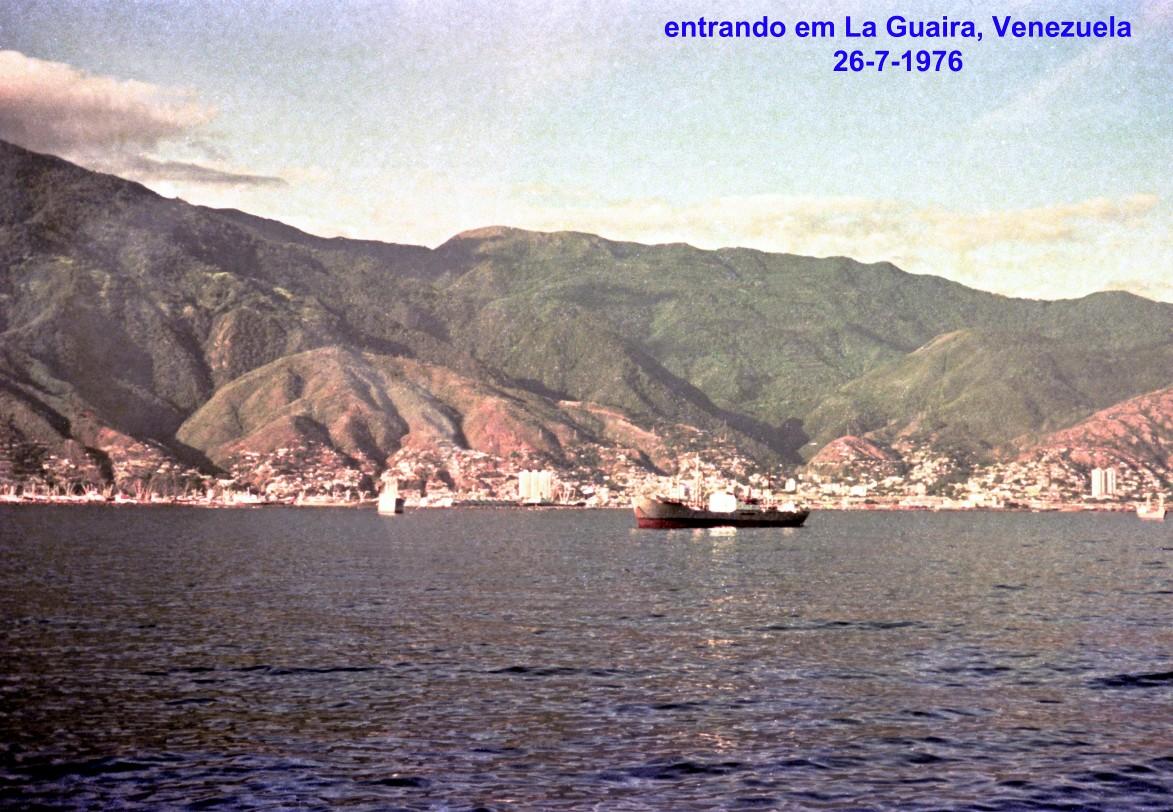 00750 976-07-26 entrando em La Guaira, Venezuela