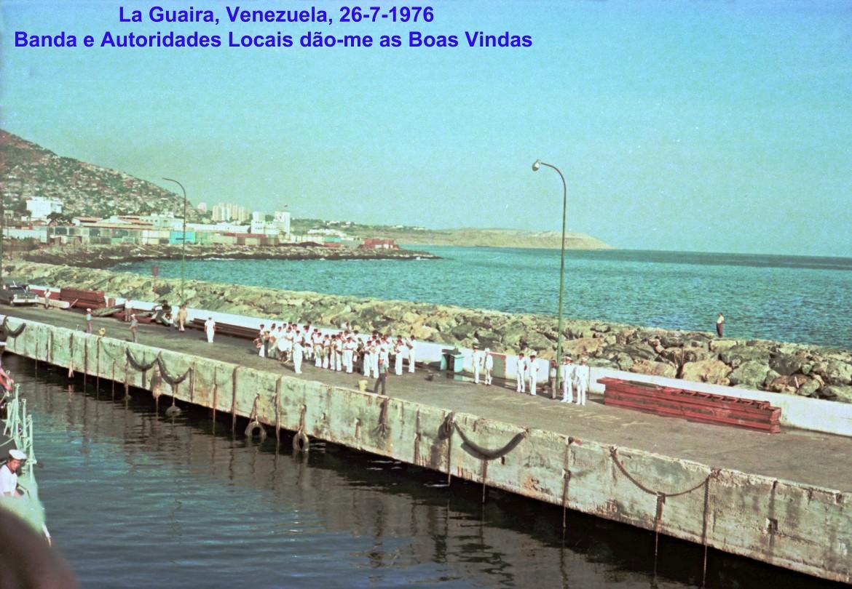 00751 976-07-26 Banda e Autoridades Locais dão-me as Boas Vindas em La Guaira Venezuela