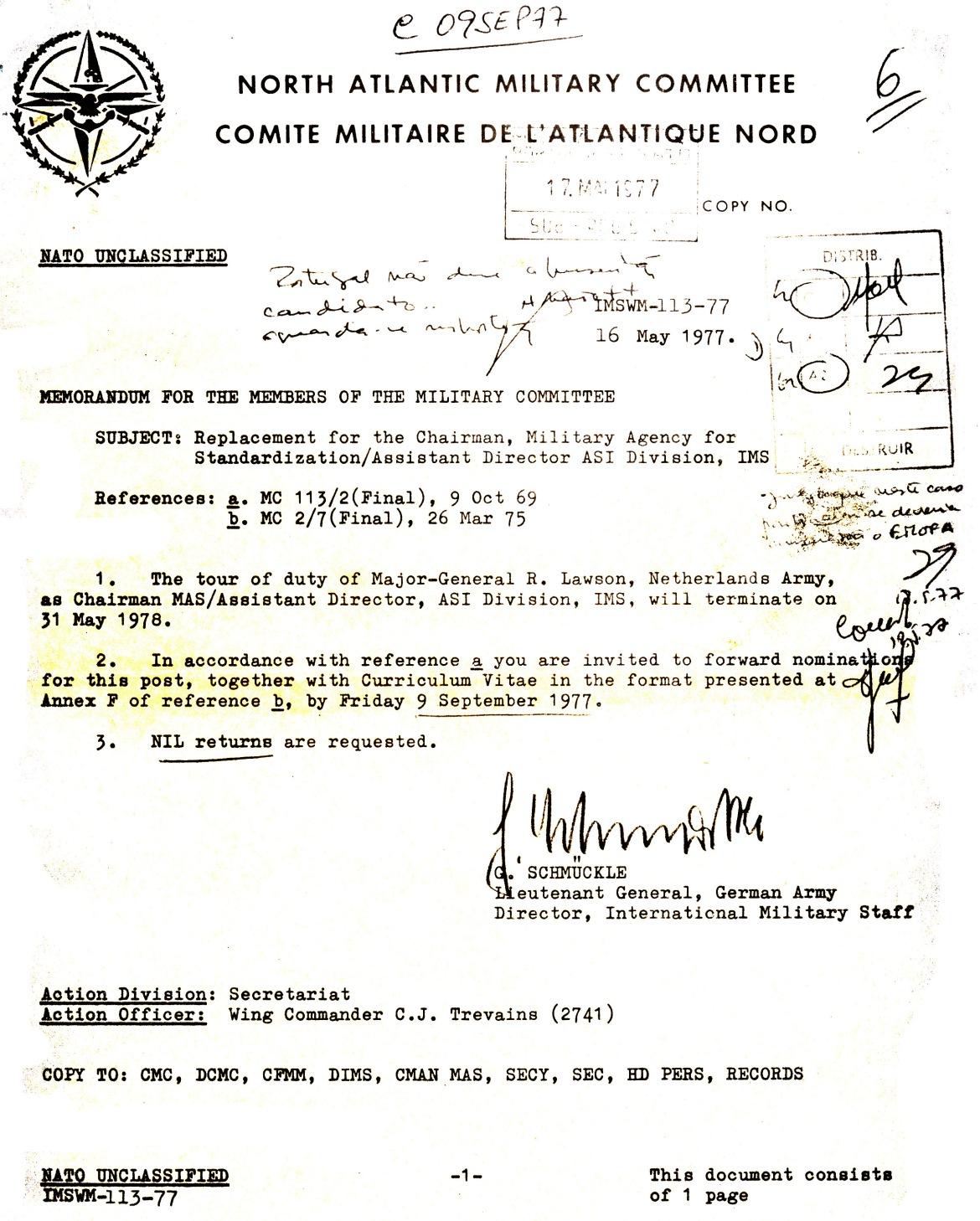 00812 977-05-16 Cargo na NATO -Director do IMS  solicita aos países NATO inform sobre candidaturas ao carg_20101113235512433