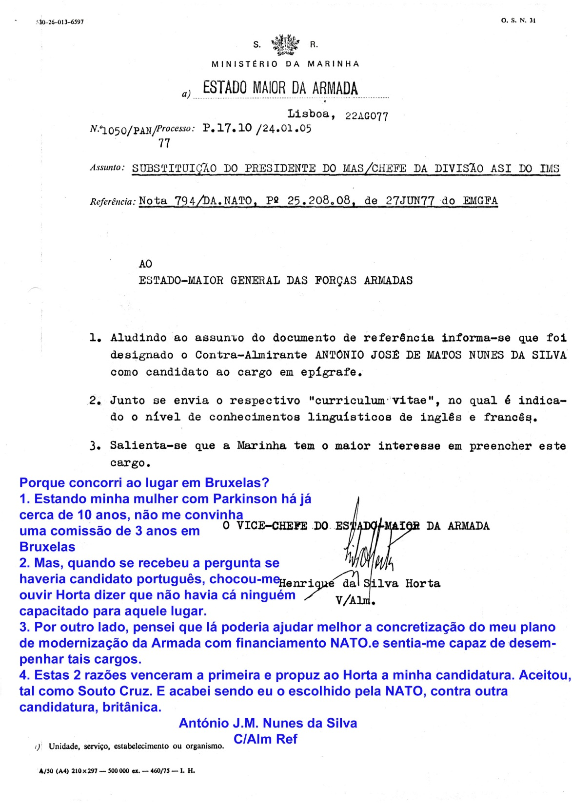 00835 977-08-22 Cargo na NATO - EMA apresenta ao EMGFA minha candidatura aos cargos NATO -Nota 1050 de 22-_20101113235512451