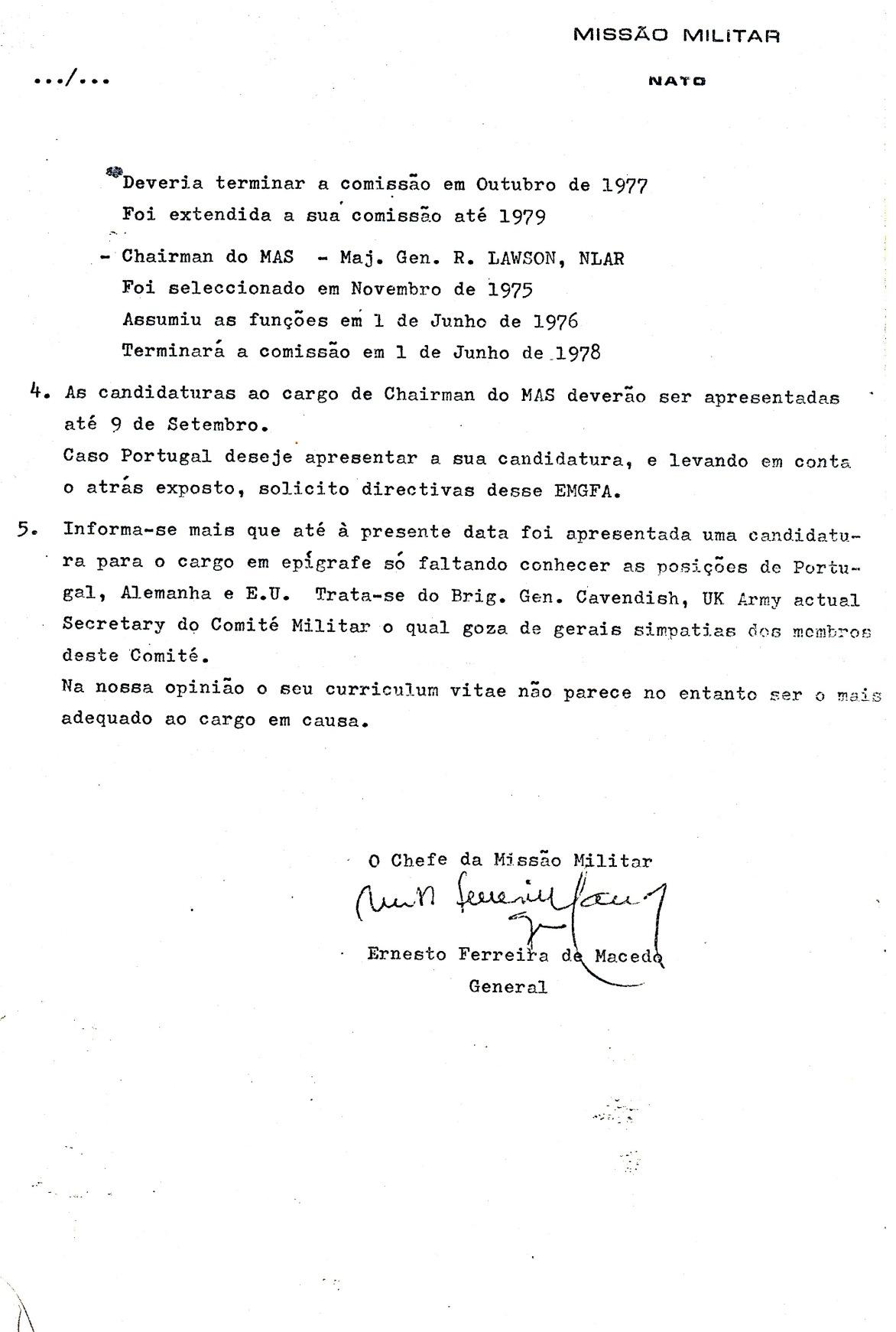 00837 977-08-26 Cargo na NATO - MILREP PO solicita informação se Portugal apresenta candidatura pg 2