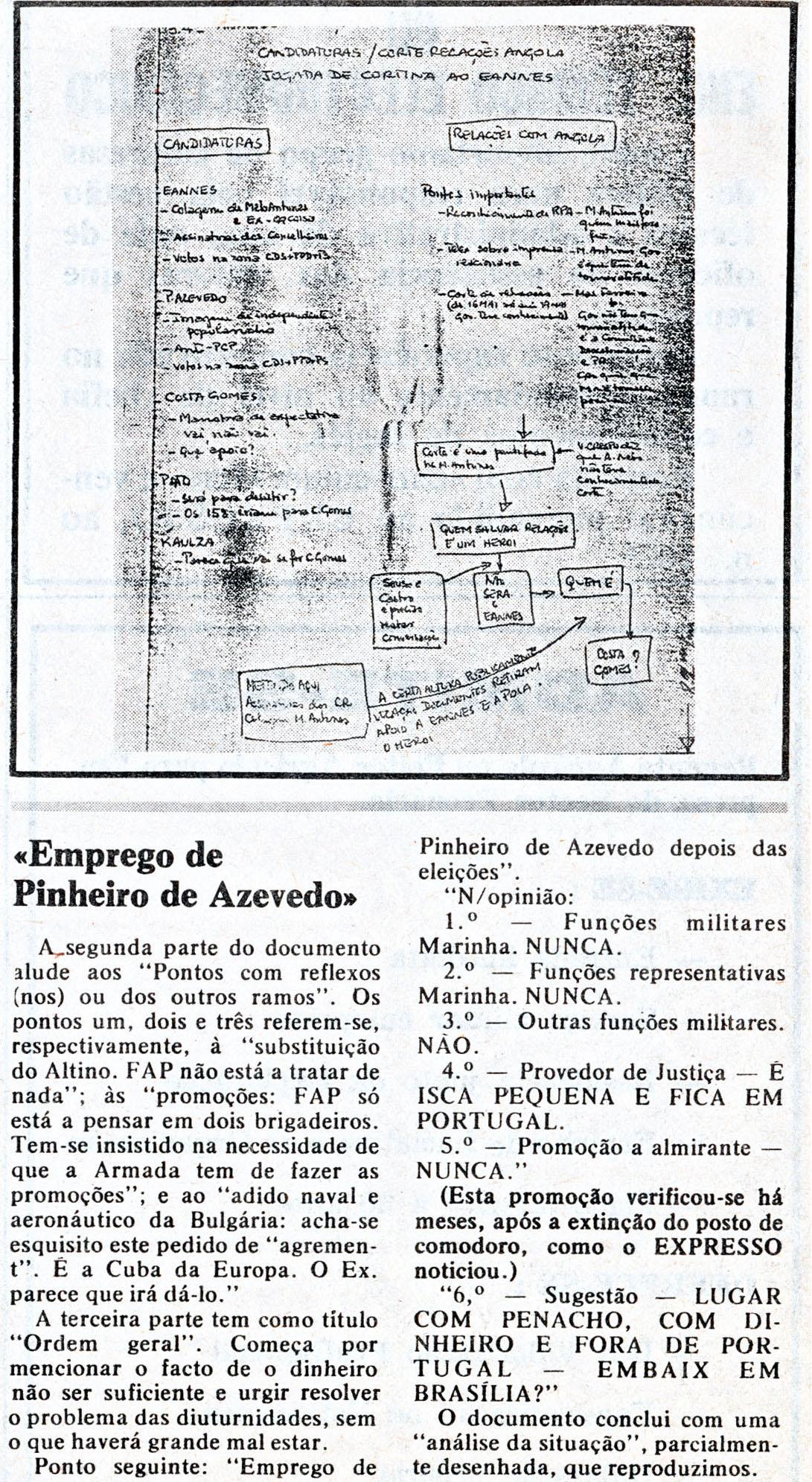 00848 977-09-10 artigo noticiando manobras político-militares onde não tive interferência -Expresso -parte 5
