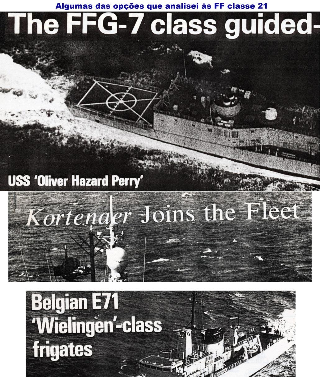 00862 979 algumas das outras opções que estudei às fragatas classe 21