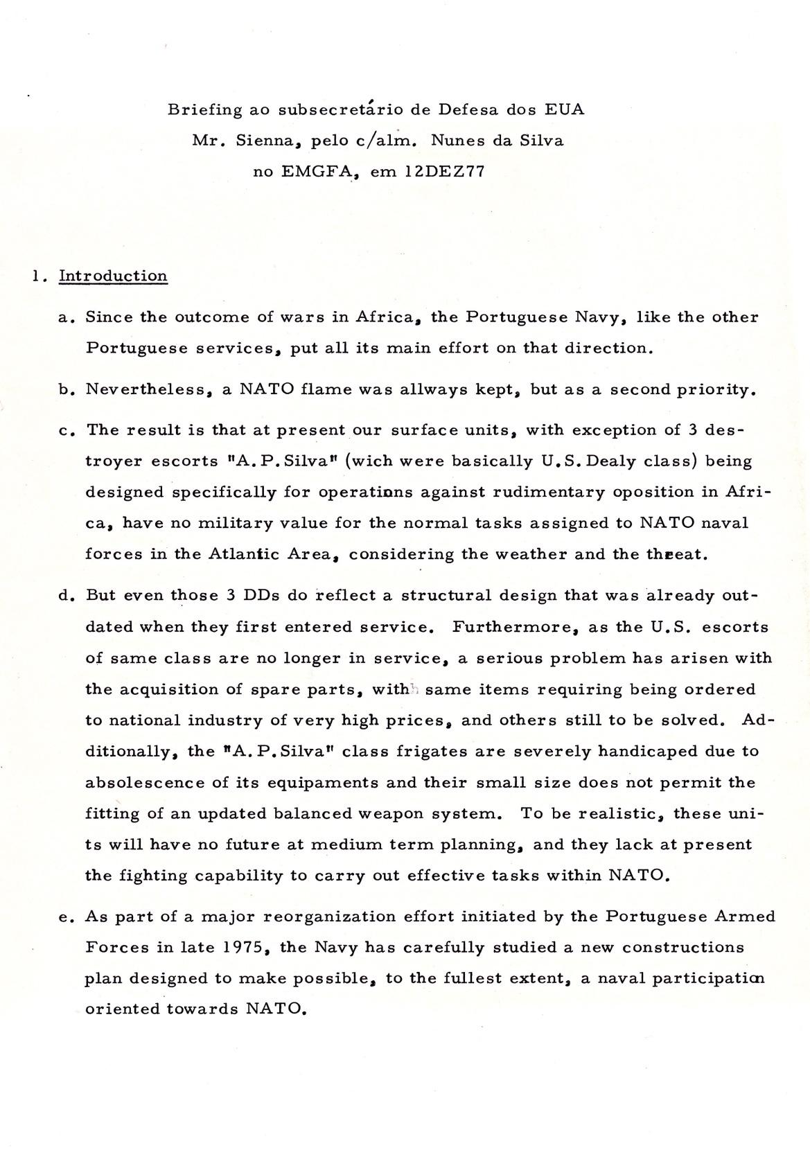 00872 977-12-12 Briefing do CAlm Nunes da Silva ao Sub Secretário da Defesa dos EUA Mr Sienna sobre o meu plano naval -pg 1