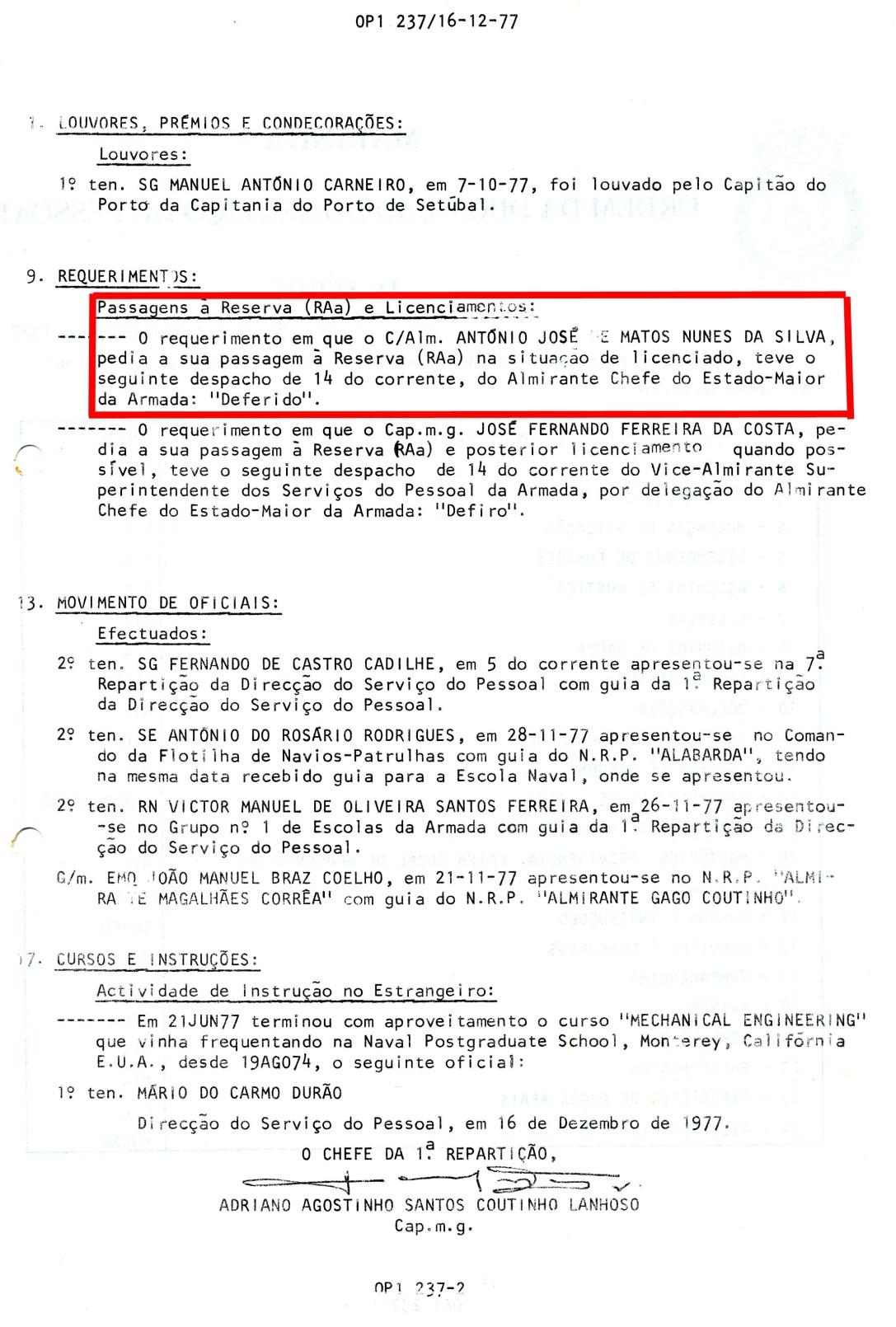 00878 977-12-16 publicação do despacho DEFERIDO no próprio dia 14 do requerimento -OP1 237