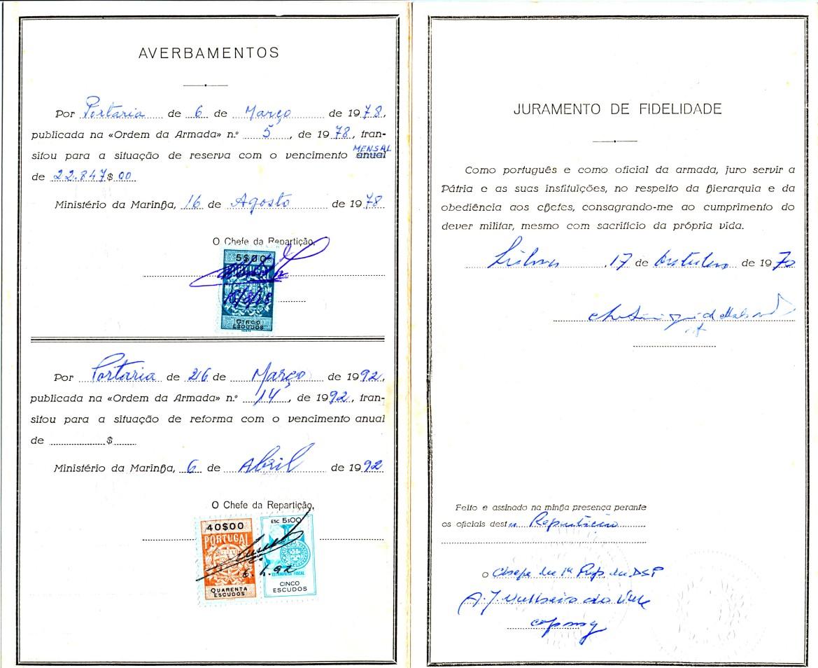 00894 992-04-06 averbamento na Carta Patente da minha passagem à Reforma