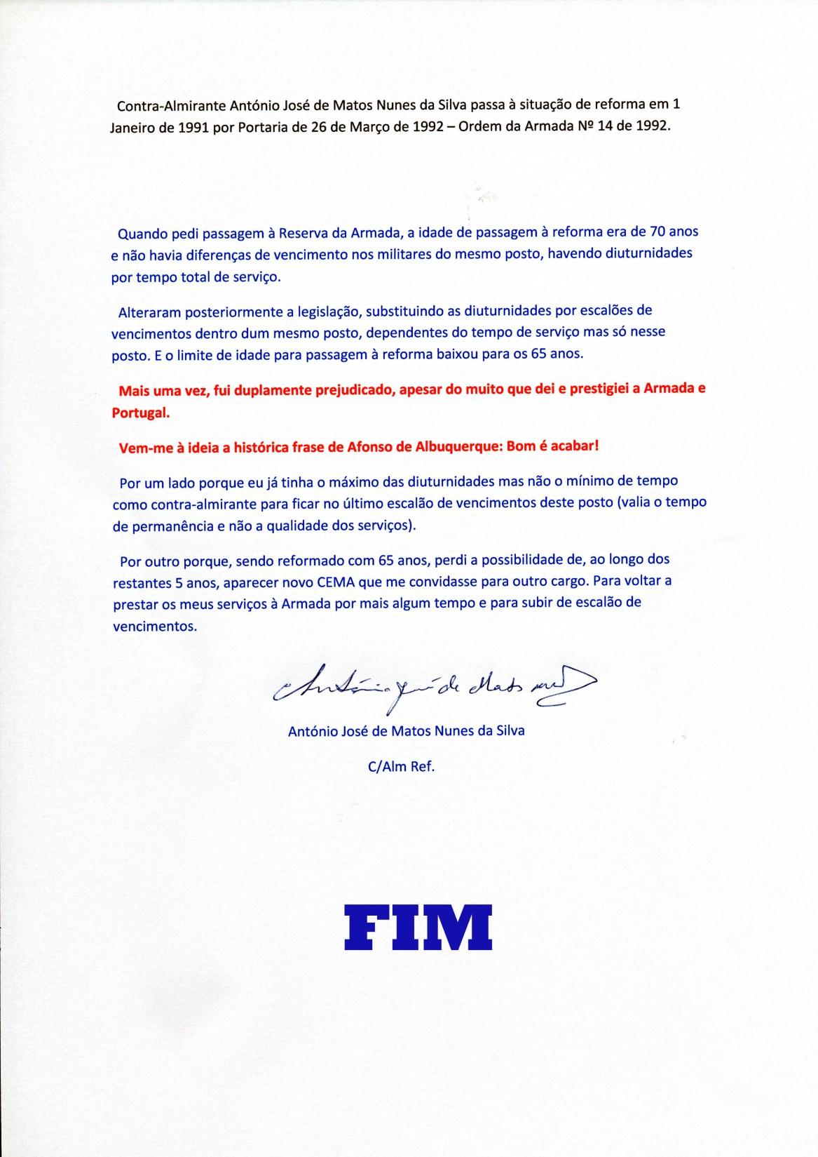 00895 991-01-01 passagem à Reforma com minhas considerações finais -FIM