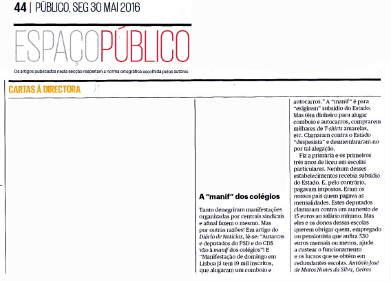 16-05-30 a manif dos colégios -Público, papel