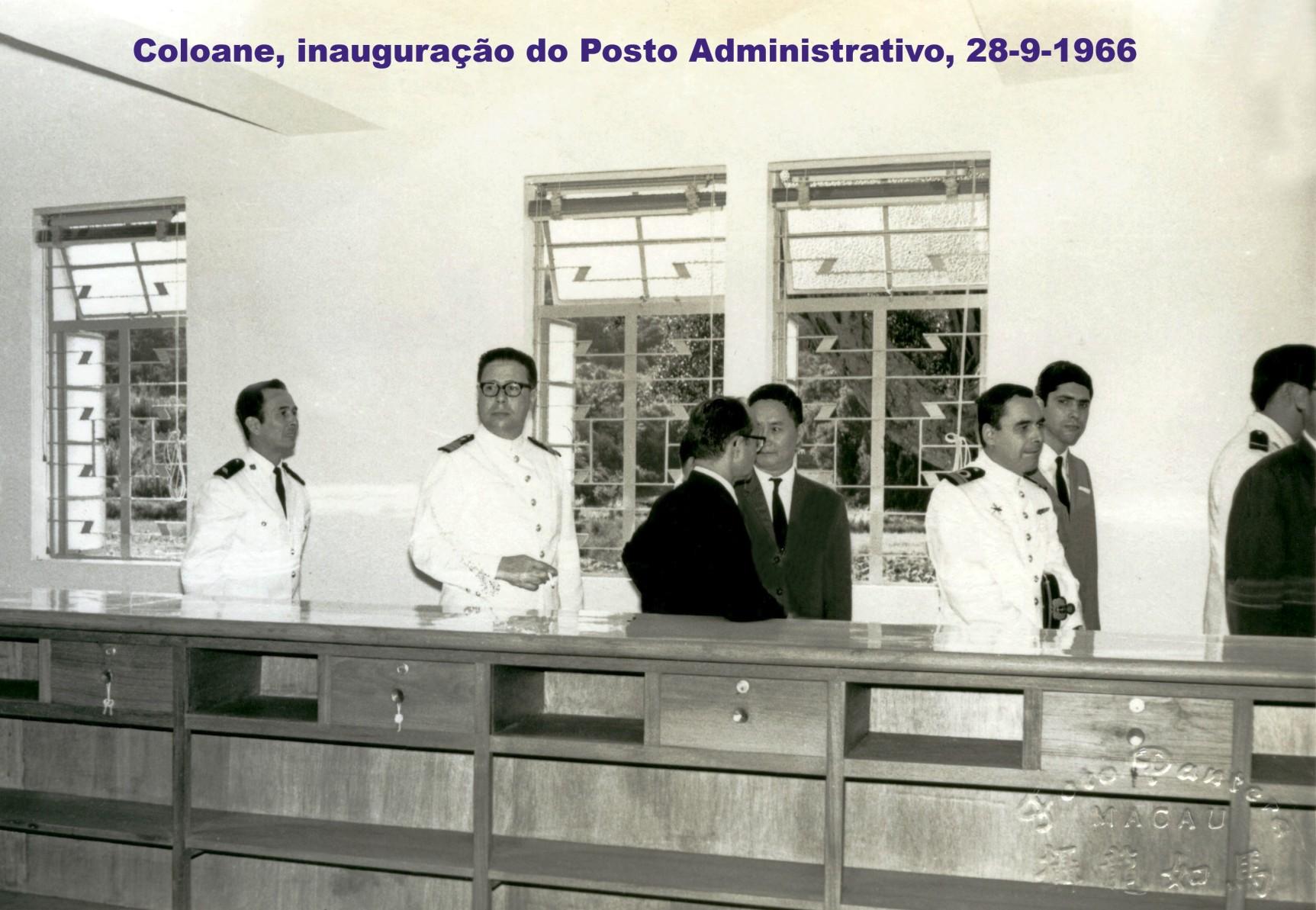 032 66-09-28 inauguração do Posto Administrativo em Coloane