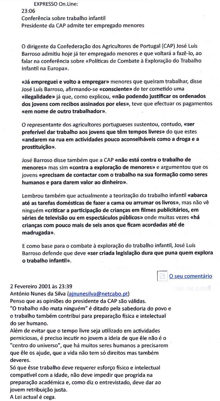 0487 Trabalho infantil, Expr onl, 2-2-2001