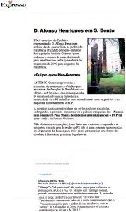 0491 Guterres, estátua e aliança com PCP, Expr onl, 4-2-2001