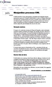 0501 Monjardino processa CML, Expr onl, 11-2-2001