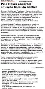0503 dívida do Benfica ao fisco, Expr onl, 15-2-2001