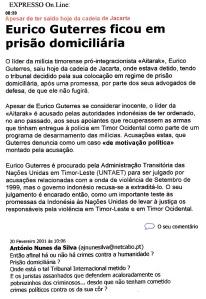 0507 Timor-Eurico Guterres em prisão domiciliária, Expr onl, 20-2-2001