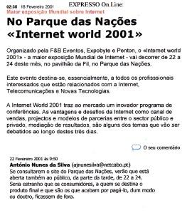 0508 acesso público à Internet World no Parque das Nações, Expr onl, 22-2-1001