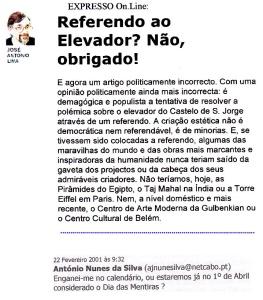0509 referendo ao elevador para Castelo de S Jorge, Expr onl, 22-2-2001