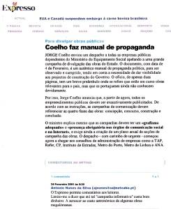 0510 manual de propaganda a obras megalómanas, Expr onl, 24-2-2001