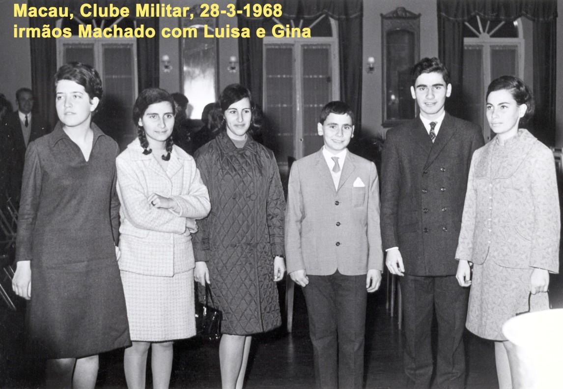 052 68-03-28 Clube Militar-irmãos Machado com Luisa e Gina