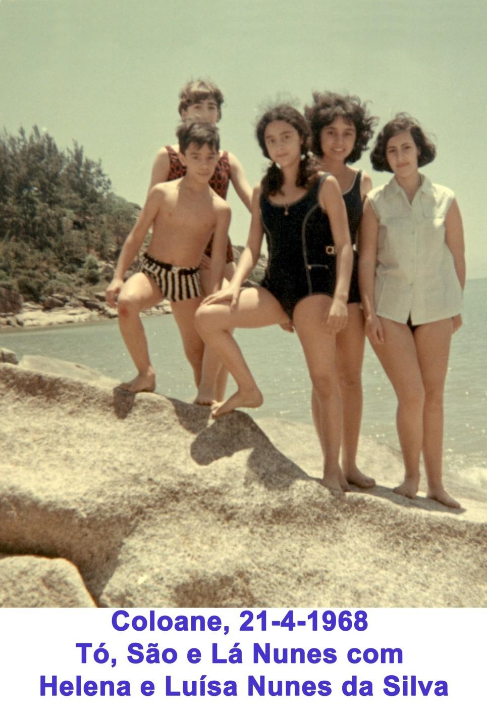 057 68-04-21 os filhos do cônsul em HK com as nossas em praia de Coloane