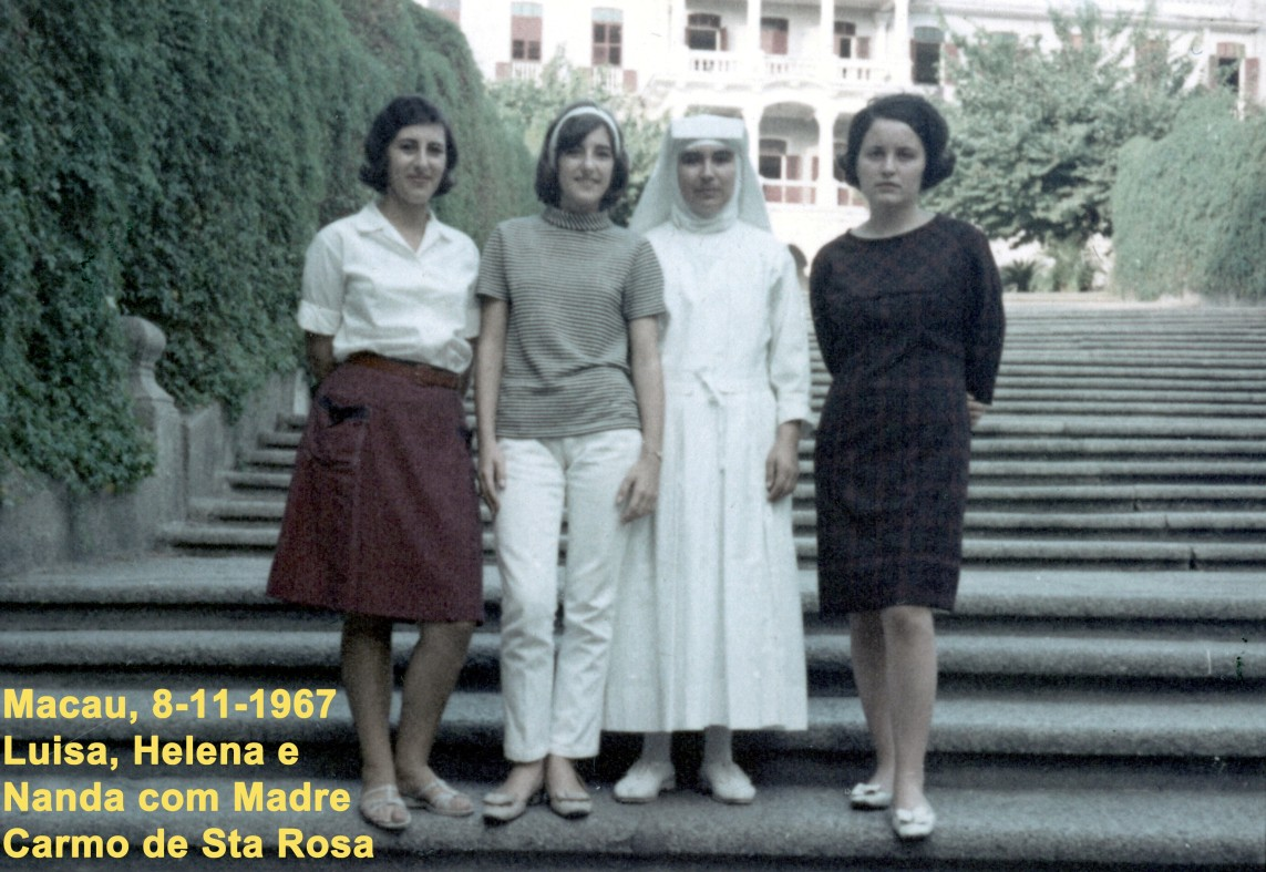 120 67-11-08 Luisa-Helena-Nanda com Madre Carmo de Sta Rosa
