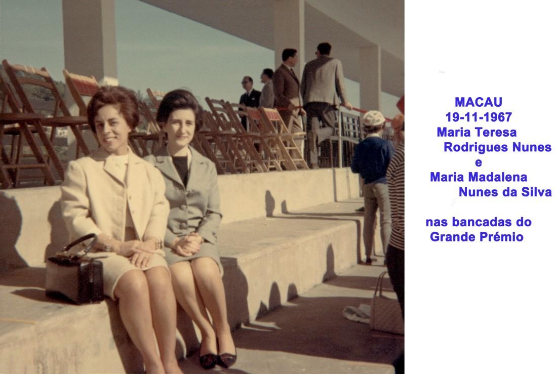 128 67-11-19 M. Teresa Nunes e Madalena nas bancadas do Grande Prémio