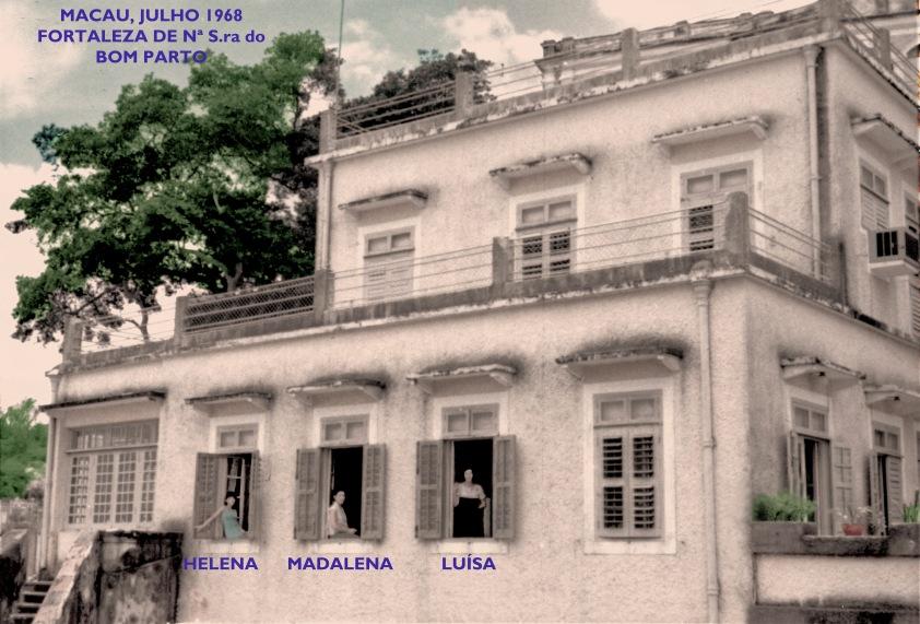 169 68-07 Madalena e filhas nas janelas do Bom Parto.2