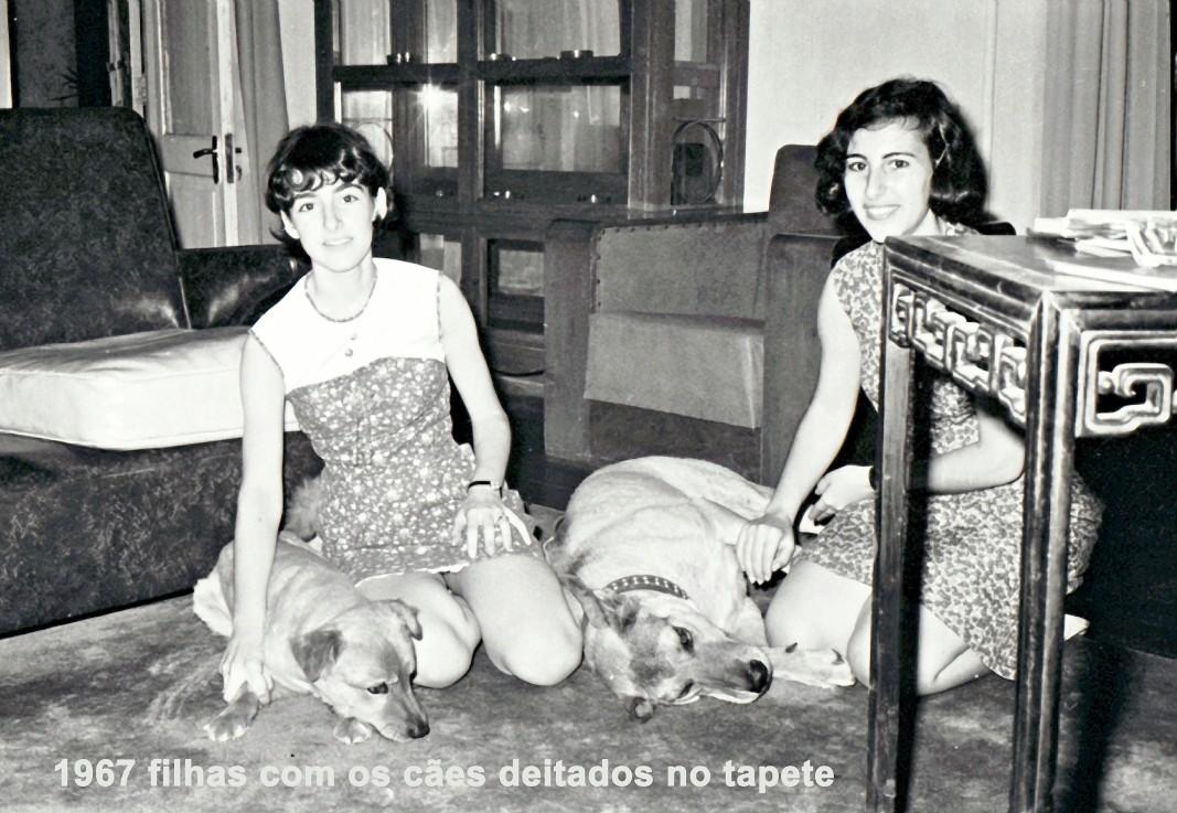 173 67 filhas com os cães deitados no tapete
