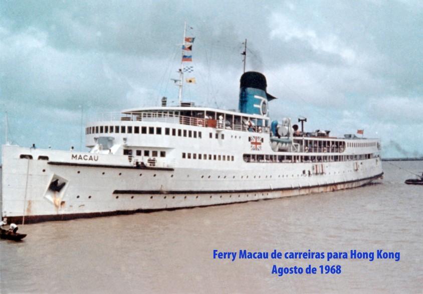 195 68-08 Navio Macau das carreiras para Hong Kong
