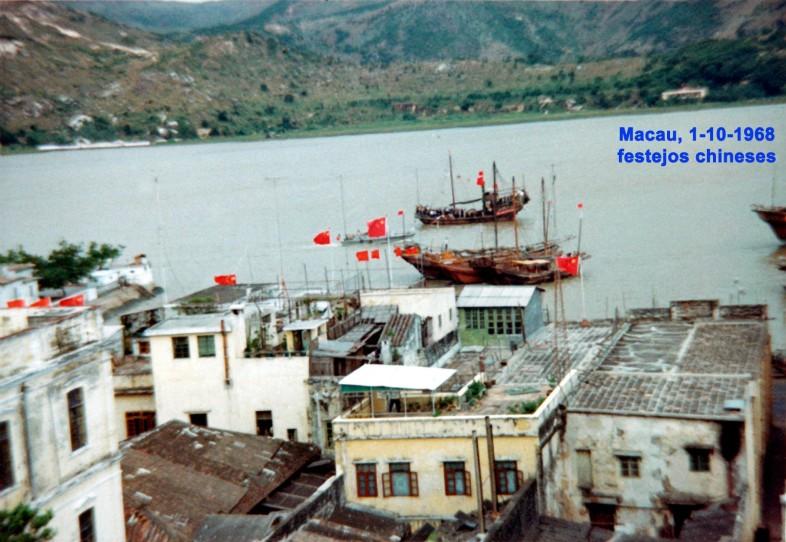 294 68-10-01 festejos chineses-cortejo fluvial