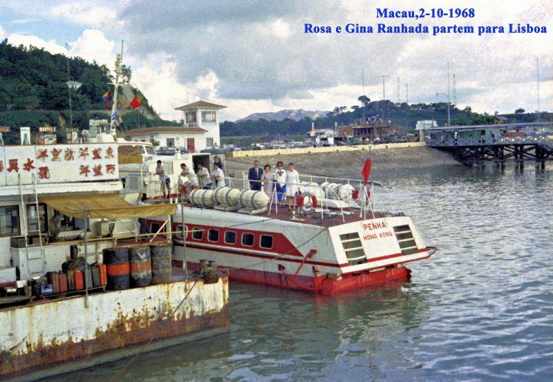 306 68-10-02 partida de Rosa e Gina Ranhada-no hidroplanador com pais