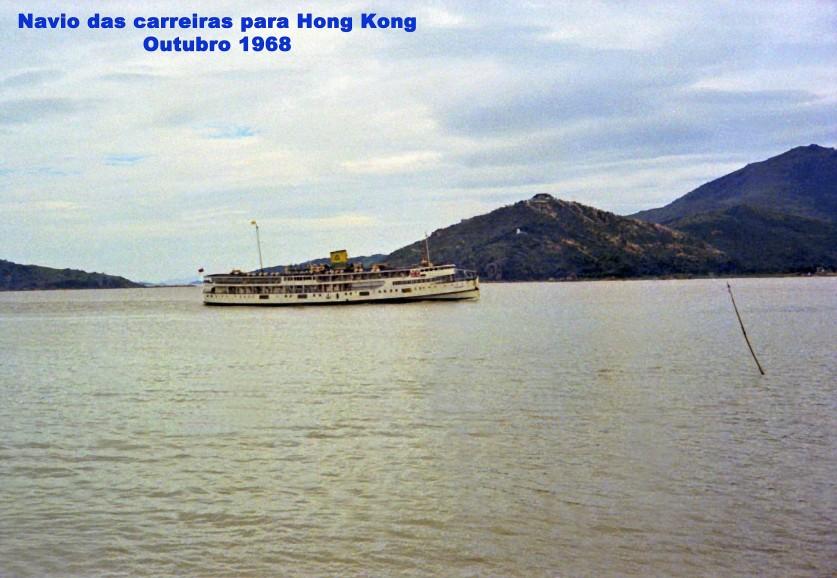 341 68-10 navio das carreiras para Hong Kong